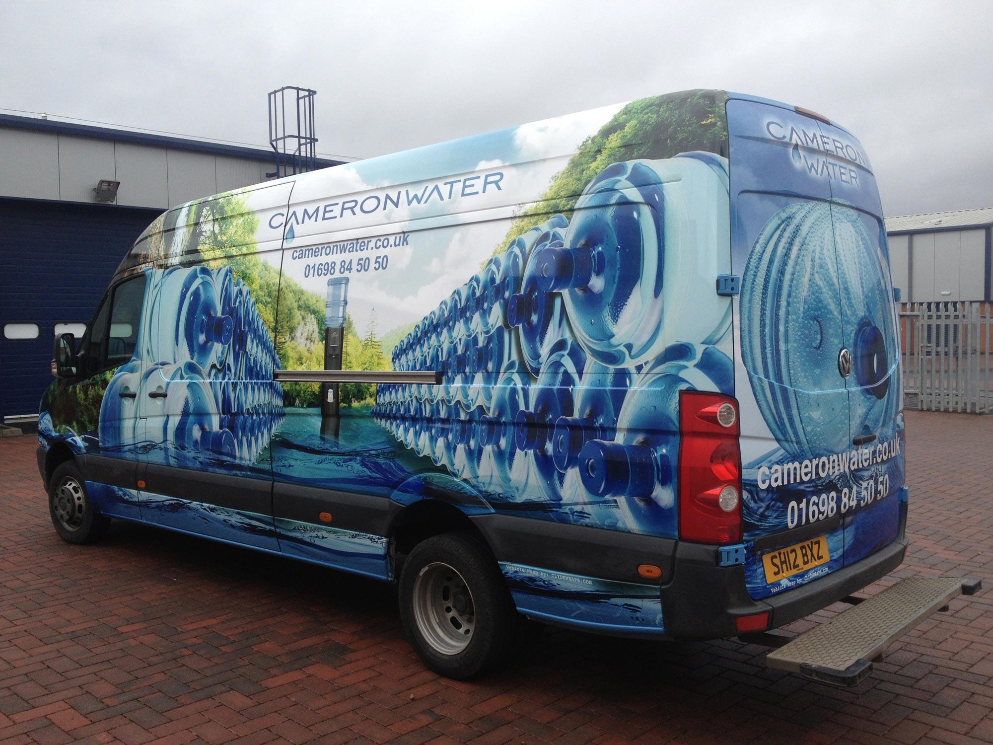Cameron Water Van Wrap