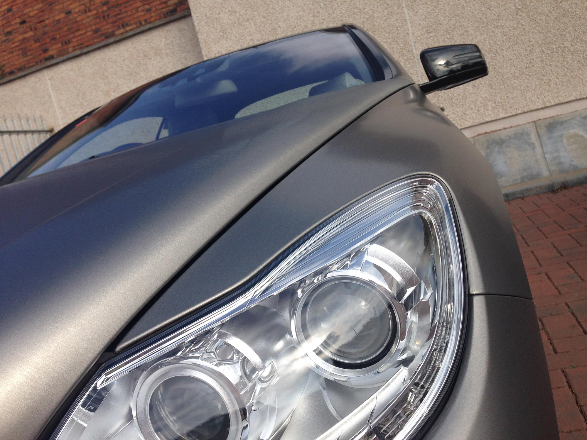3M Brushed Titanium Vinyl wrapped Mercedes CL Coupe