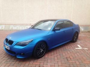 3M Matte Metallic Blue wrap BMW M-Sport 5 Series