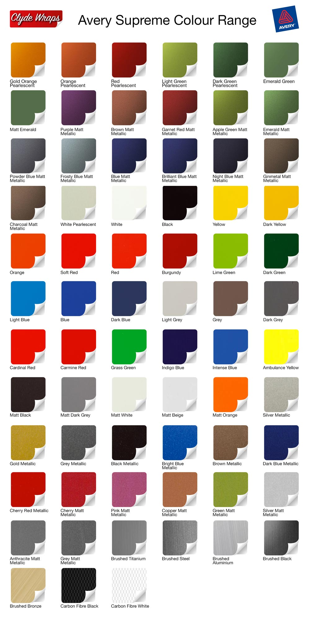 Colour Code Chart  Find Paint Codes for Cars  Car Colour