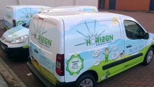 Horizon Renewable Energy Citroen Berlingo fleet full colour vinyl wraps