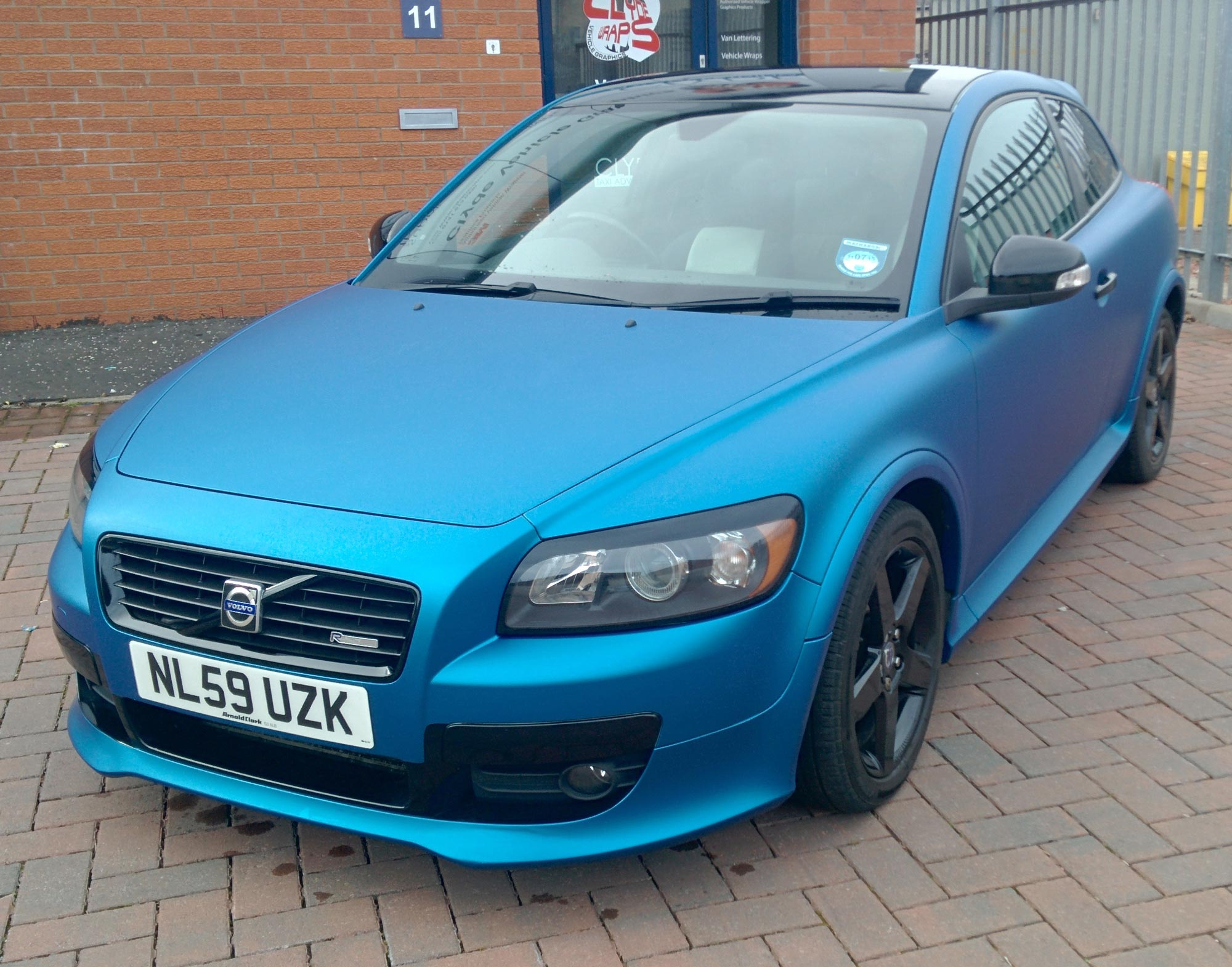 Matte Metallic Blue Volvo c30