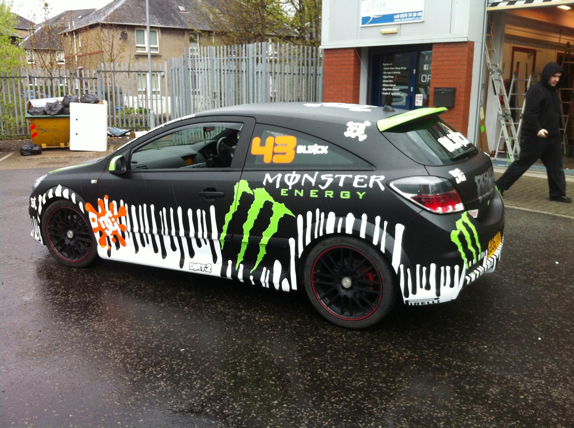 Ken Block Drift Car Inspired Graphics On Vauxhall Astra VXR