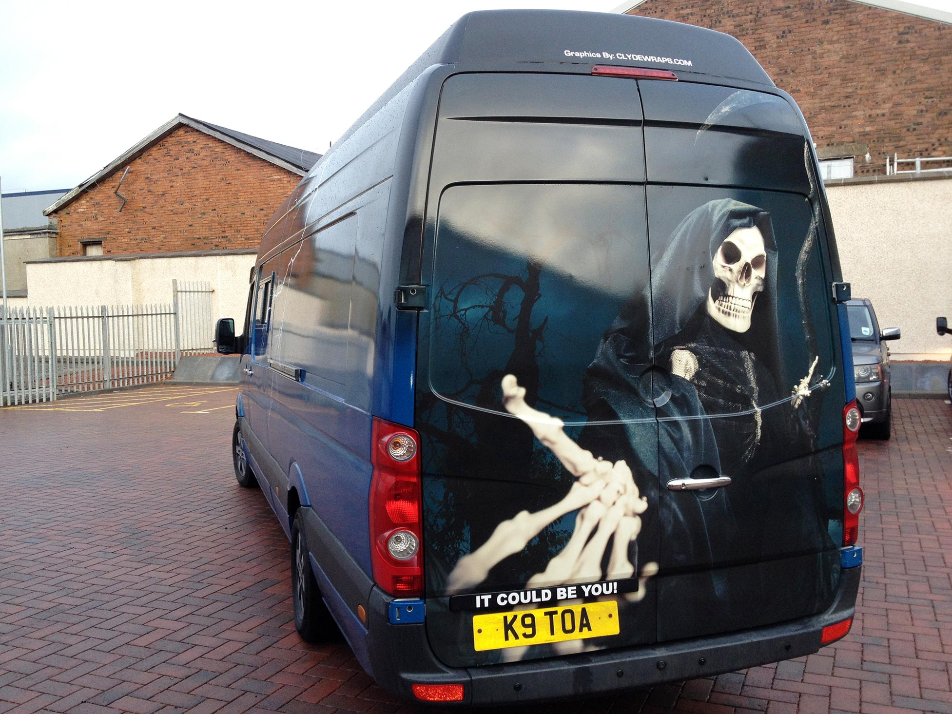 Grim Reaper Graphic On A Custom Mercedes Sprinter