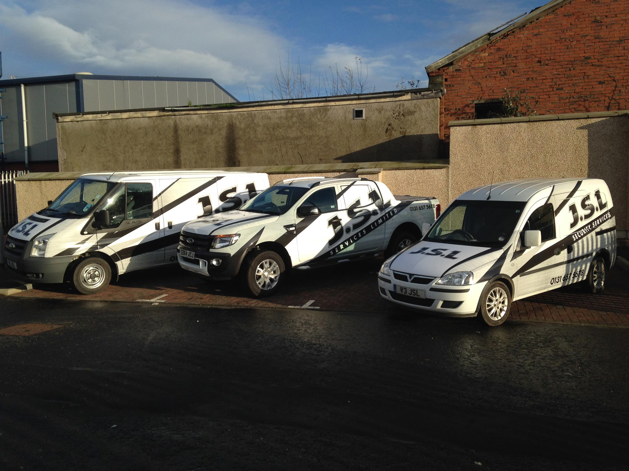 JSL Fleet of vans