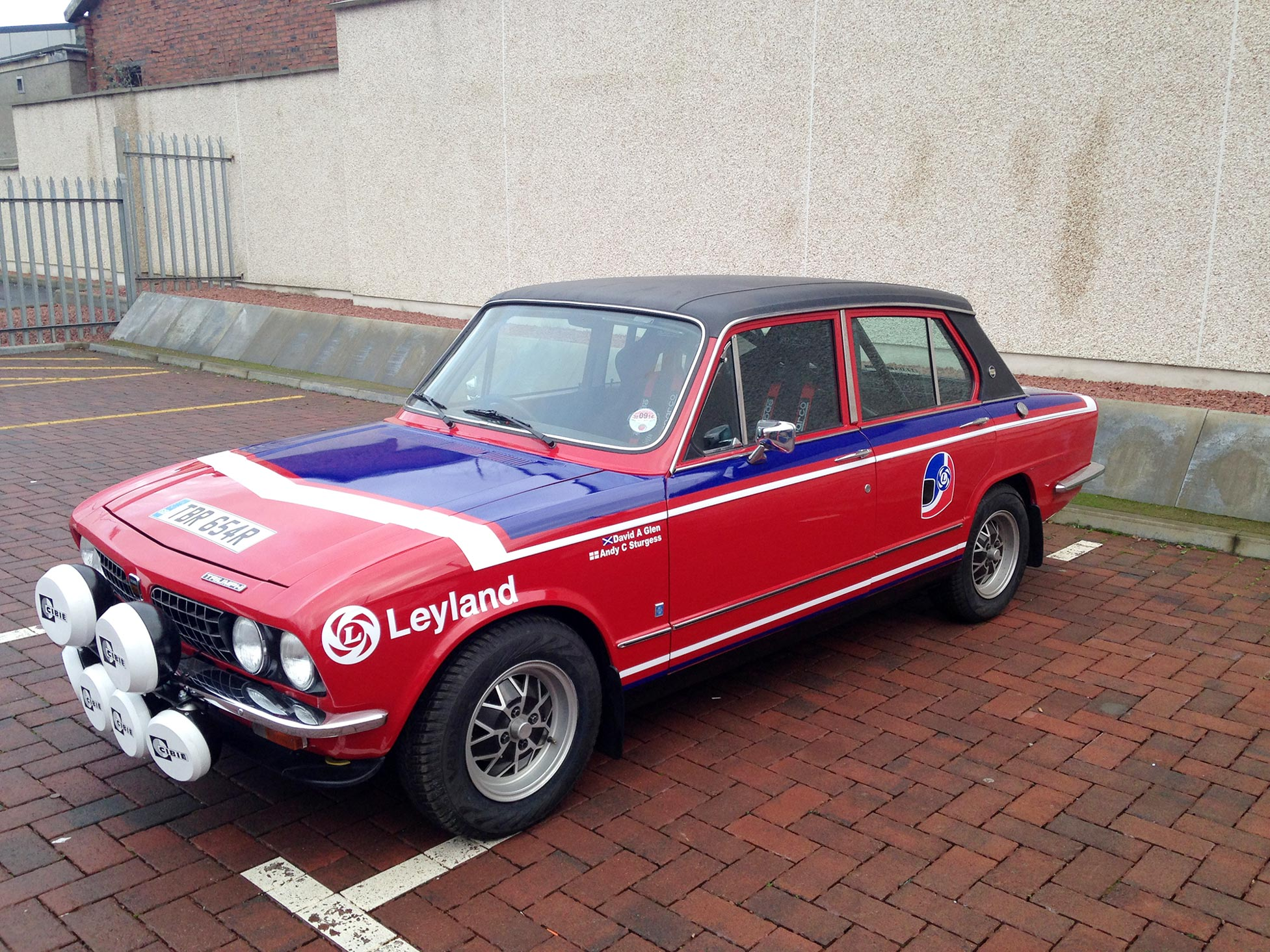 Triumph Dolomite In British Leyland Graphics For The Monte Carlo Rally