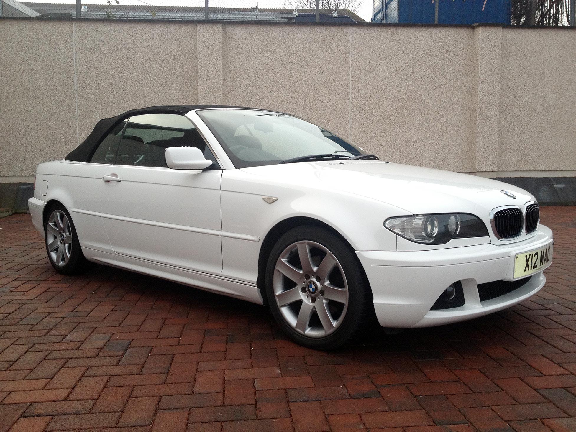 Gloss White Vinyl Wrap BMW 3 Series Convertible