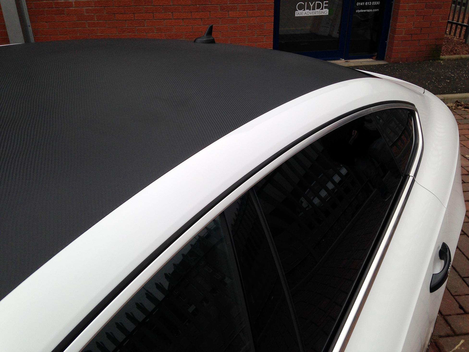 Carbon Fibre Roof Wrap On Audi A5 5dr TDi