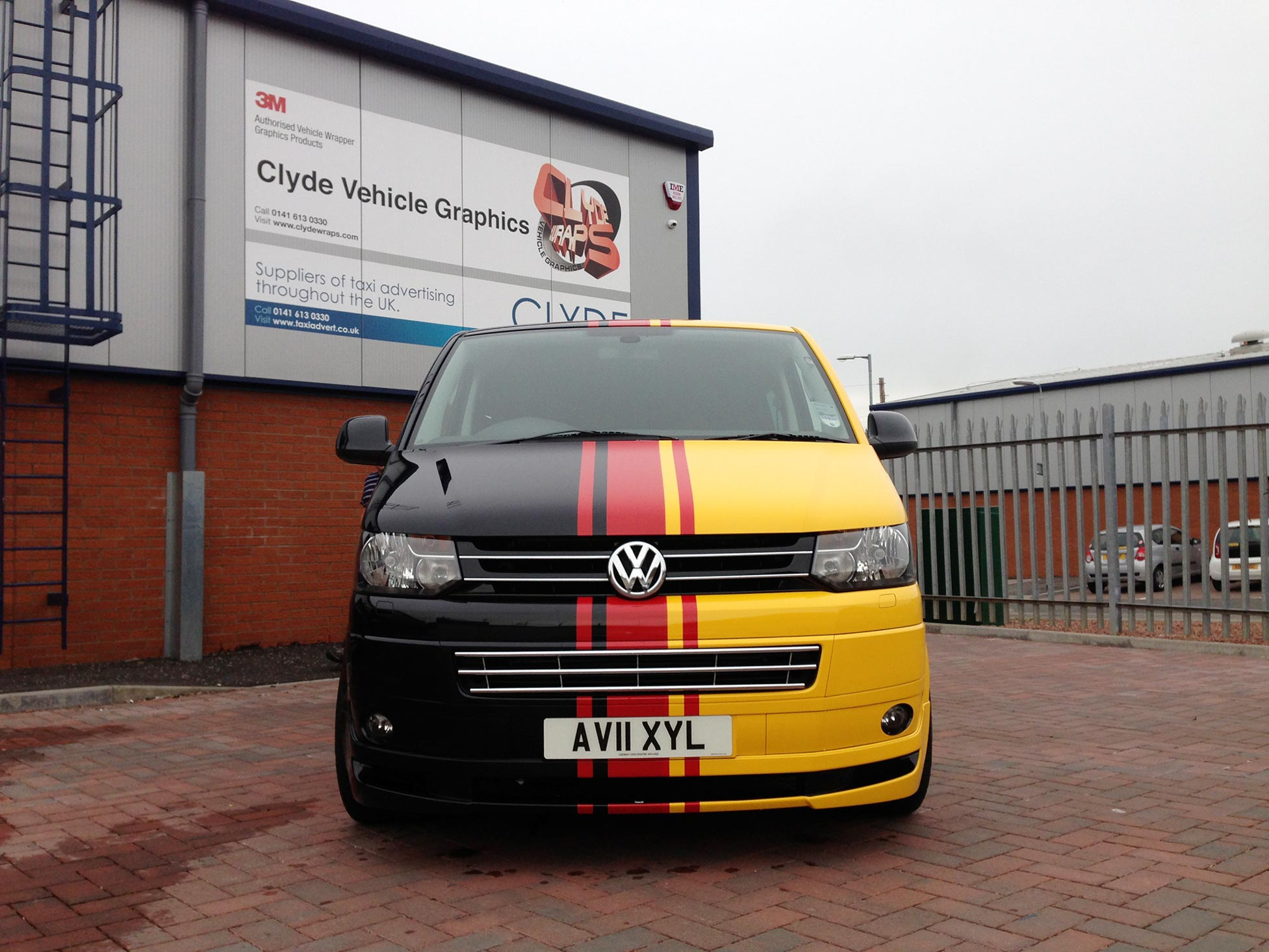 Replica MTM VW T5 Sportline With German Flag Vinyl Wrap