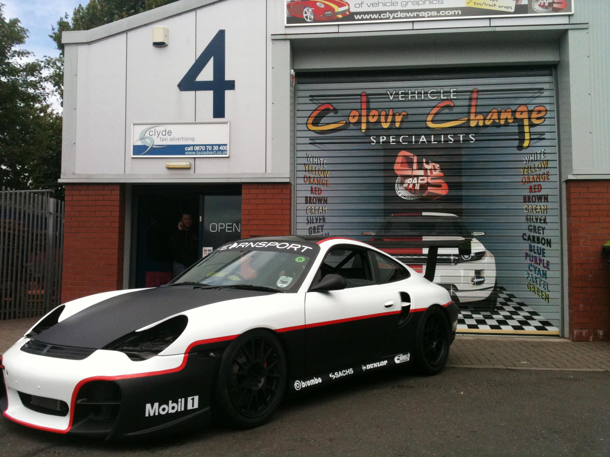 Base Porsche 911 Racing Car With Sponsors Logos To Add