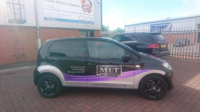 MET Wedding Cars Skoda Citigo Graphics